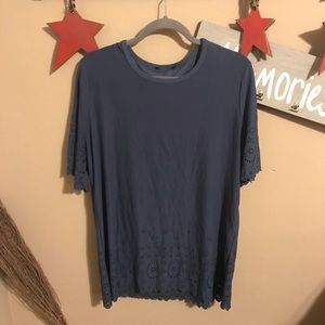 Other - Short sleeve detailed top. Very soft